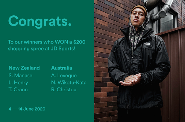 JD Sports Sneaker Hunt_Competition Winners_NZ