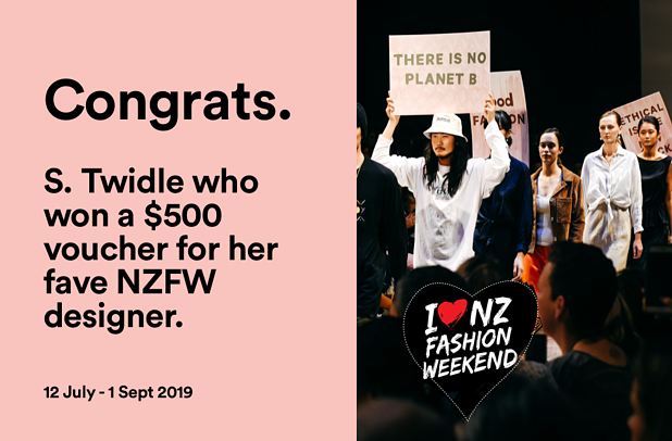 NZFW iticket winner