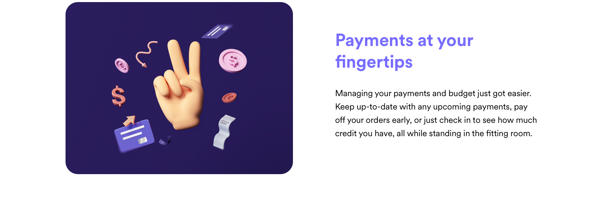 Payments at your fingertips