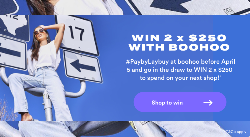 win with laybuy x boohoo